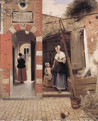 Courtyard of a House in Delft