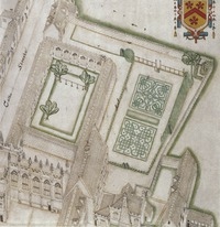 Two Elizabethan knots (Detail from Hovenden's map of All Souls)