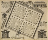 Oxonia Illustra, Plan of the Physic Garden